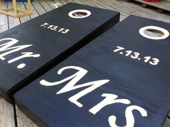 Wedding Inspired CornHole Board Sets W Bags