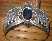 Harry Potter Ravenclaw's diadem crown headdress with blue crystal and Words carving
