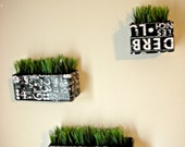 Subway Art Inspired Wall Planters / Living Ledges / Vertical Garden / Up-cycled, Contemporary, Modern Wall Planter Set