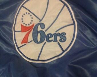 Vtg 76ers Blue and Red Satin Starter Team Jacket New