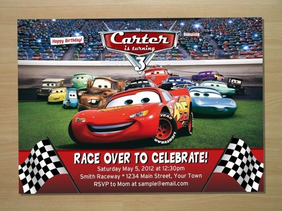 Disney Cars Invitation as awesome invitation layout