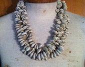 3 strand cowrie shell necklace