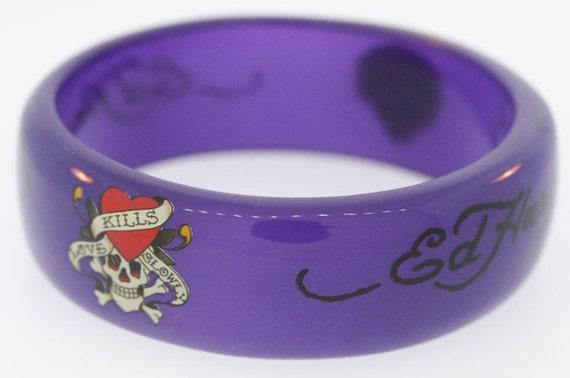 Ed Hardy Purple Bangle Bracelet