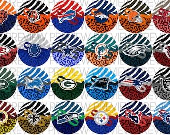 NFL Animal Print Bottle Cap Images