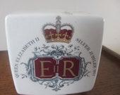 Vintage Queen Elizabeth Silver Jubilee Money Box SALE ITEM