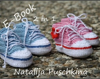 PDF with 100 photos - Baby Boy and Girl Booties Crochet Pattern