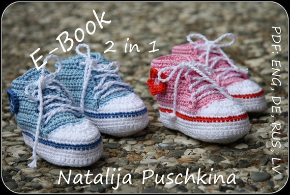 PDF with 150 photos - Baby Boy and Girl Booties Crochet Pattern
