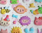 30% off. Enter Coupon Code JULYSALE at Checkout. Awesome43 Cute Animal Kawaii Puffy Stickers imported from Asia
