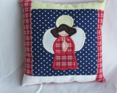 Mini Appliqued Angel Pillow Accent