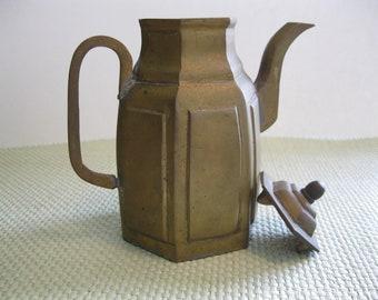 Brass Asian style vintage teapot