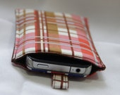 Striped iPhone sleeve/holder with tab