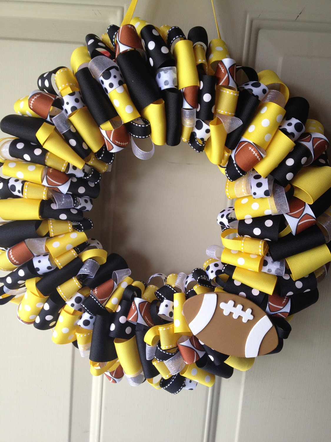 Pittsburgh Steelers Ribbon Wreath By Katieribbonwreaths On