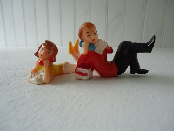 Vintage Cake Topper Retro Teens of Telephones 1950 Teeny Boppers