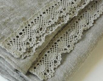 Linen hand towels guest towels tea towels set of 2 dish towels washed gray linen burlap vintage style kitchen decor wedding gift