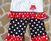 Olivia or Mickey,Minnie Mouse Custom Ruffled Pants or Capris