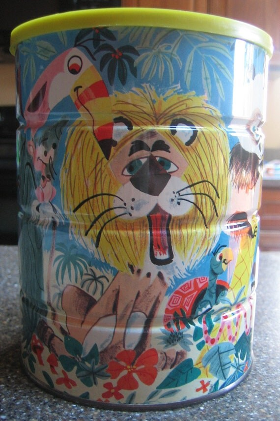 Vintage Retro Funky Folgers Coffee Can