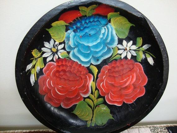Vintage Mexican Folk Art Plate