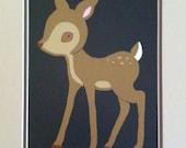Deer Scratchboard
