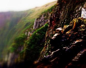 Ireland Green Landscape Photography Mountain Home Decor Verdant Cliff. Dingle