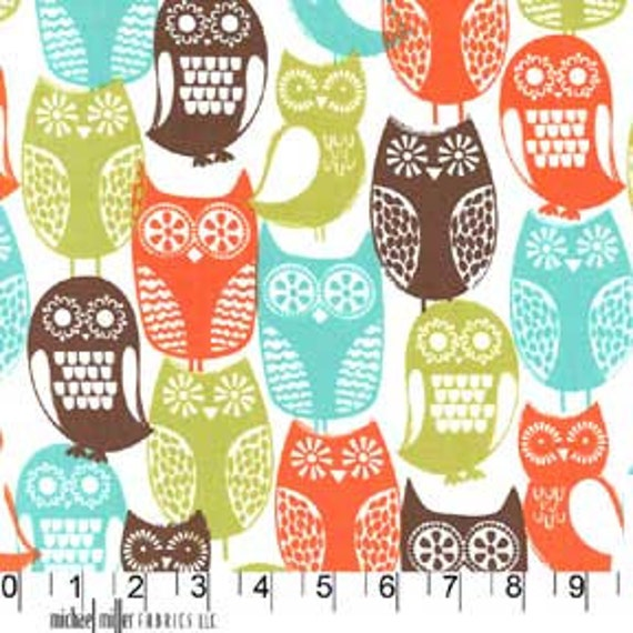 1 Yard of Michael Miller's Swedish Owls in Brown