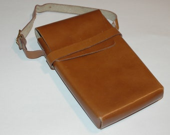 Vintage Leather Buckled Pouch