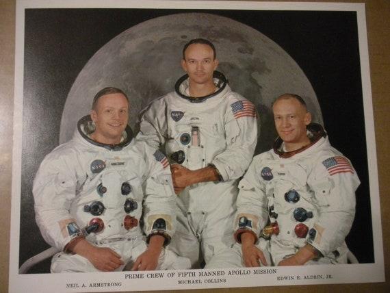 Apollo 11 Prime Crew Authentic NASA Photo Free Shipping