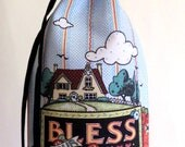 Reusable FABRIC WINE BAG - Bless Our Home
