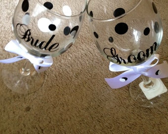 Personalized Bride and Groom Set