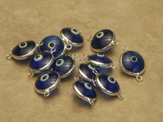 Sterling Silver Evil Eye 10pcs
