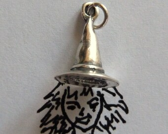 Sterling Silver Witch Hat Charm