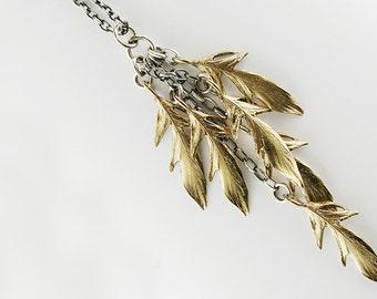 Ahnah- feather cascade necklace