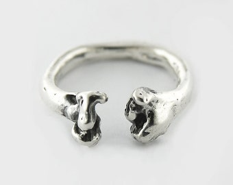 Bone- sterling silver ring