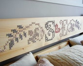 Bed Headboard Cross Stitch Embroidery MADE TO ORDER