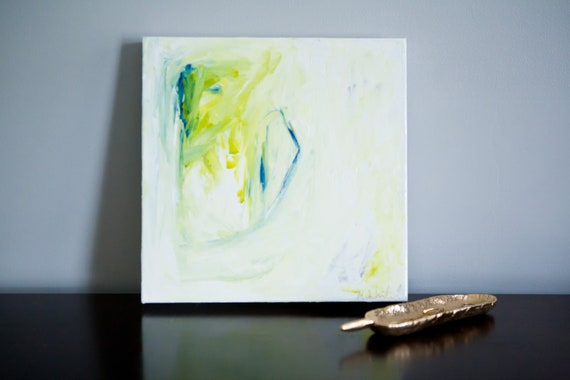 12x12 White/Blue/Lime Abstract