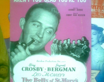 4 Vintage Bing Crosby Movie Sheet Musics