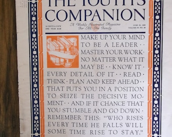 Vintage Youths Companion Magazine 1925