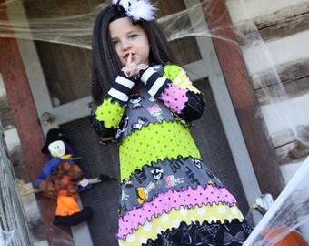 White Black Bow, Halloween Evil Villain Bat Marabou Hair Piece, Baby Head Band, Girls Headband Accessory, Custom Costume Dance Pageant Bows