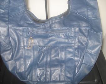 Blue leather Hobo Bag