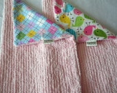 Chenille Burp Cloths