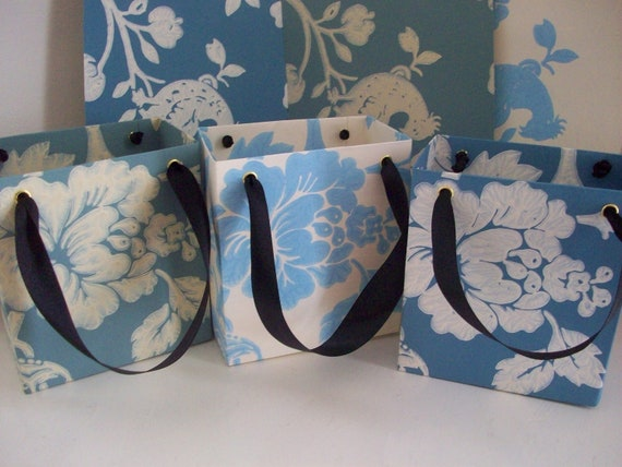 Recycled Wallpaper Gift Bags - Set of Three