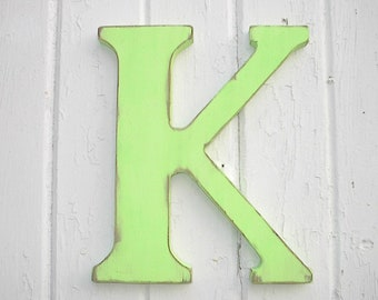 Nursery Letter K Wooden 12 inch Letters Wall Hanging Home Nursery decor Shabby chic Kids wall art