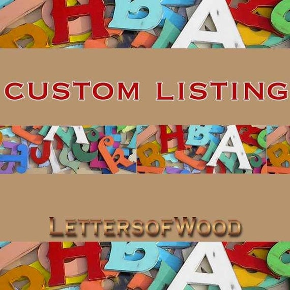 Custom Order Wooden letters E D and C Handmade Wedding Guestbook Alternative