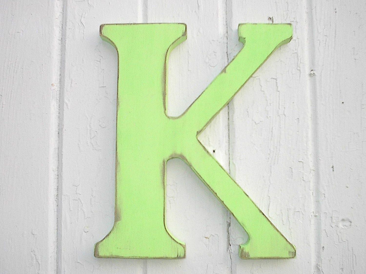 Nursery letter k wooden 12 inch letters wall hanging home - Wood letter wall decor ...