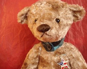 Ooak teddy bear, Handmade teddy bear - Ronny - Born on the 4th of July - Artist teddy bear
