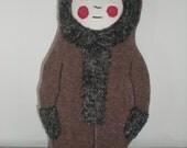 Hand made fabric eskimo doll