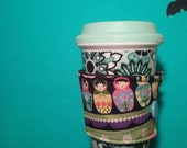 Handcrafted, Custom Made Coffee Cup Sleeve.