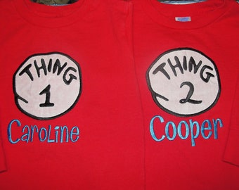 Thing 1 or 2 (or 3, 4, 5...) SHORT SLEEVE shirt