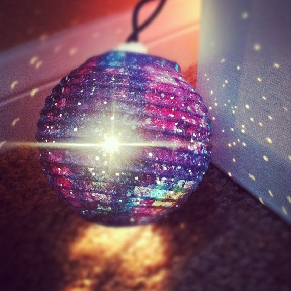 Galaxy Light Paper Lanterns by OwnTheSkyART on Etsy