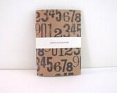 Notebook Blank - Patterned Kraft Pocket Jotter Notebook