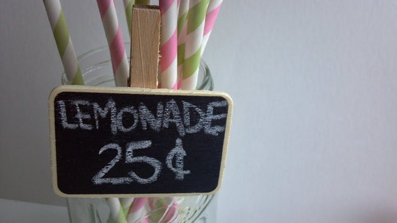 Mini clip chalkboards, set 15, great for wedding seating placecards, storage, labeling, candy buffet, dips, cheese, entertaining, name tag